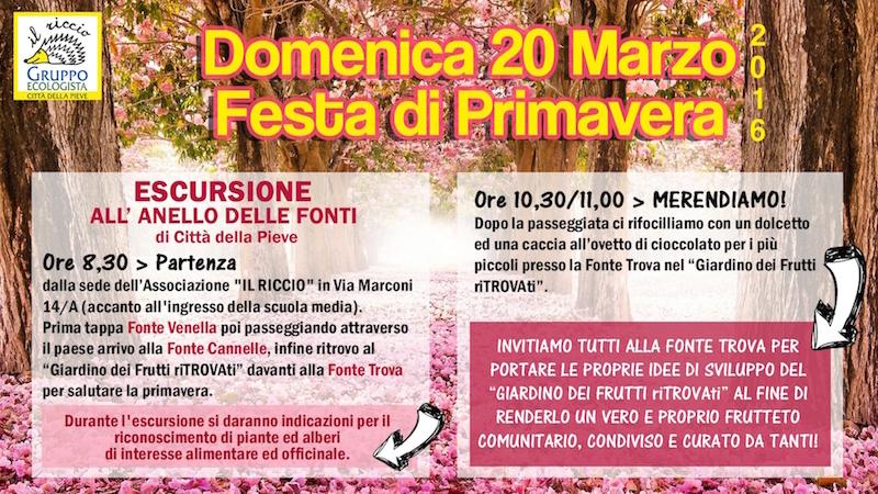 Festa di Primavera 20 marzo 2016